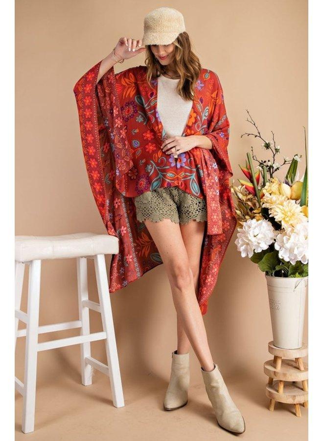 Scarf Printed Kimono