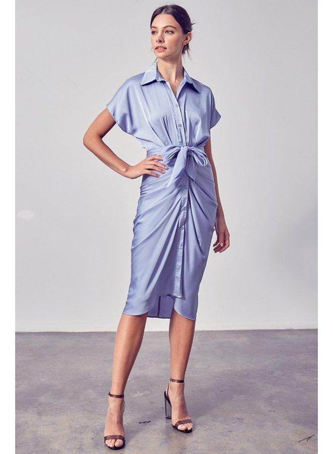 Front Tie Midi Dress