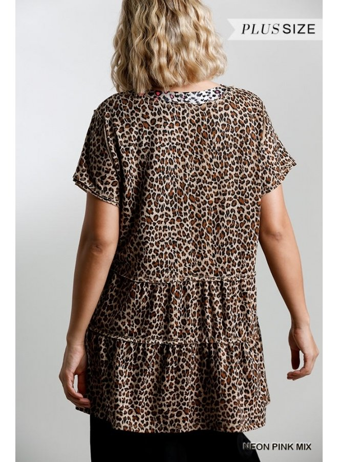 Metallic Detail Leopard Tunic
