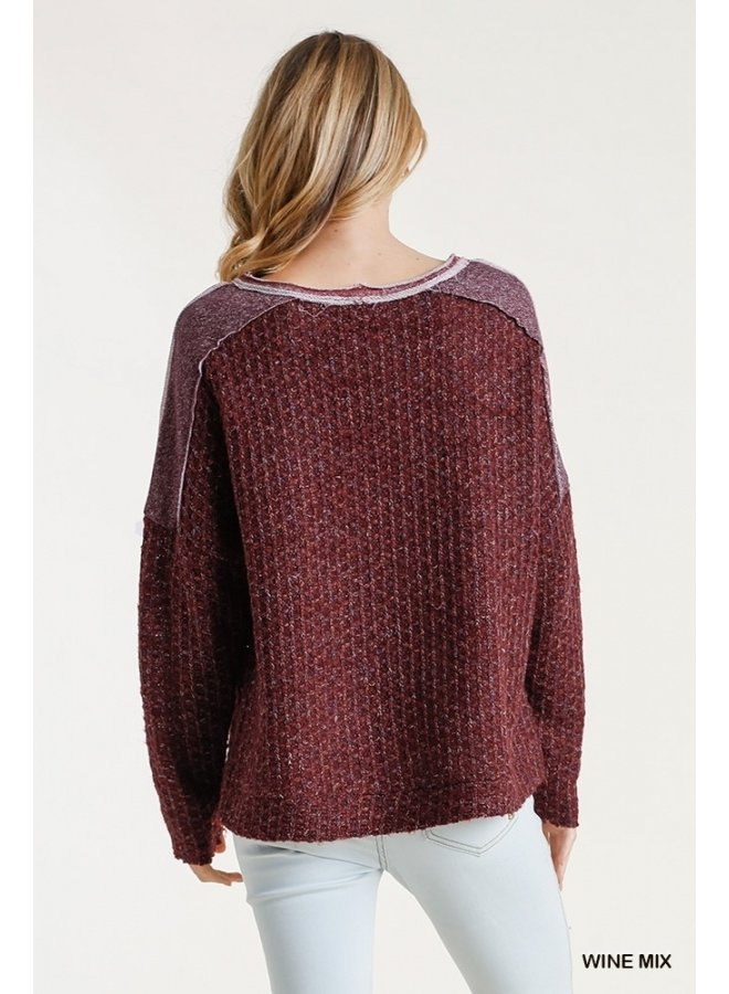 Raw Edge Multicolor Pullover