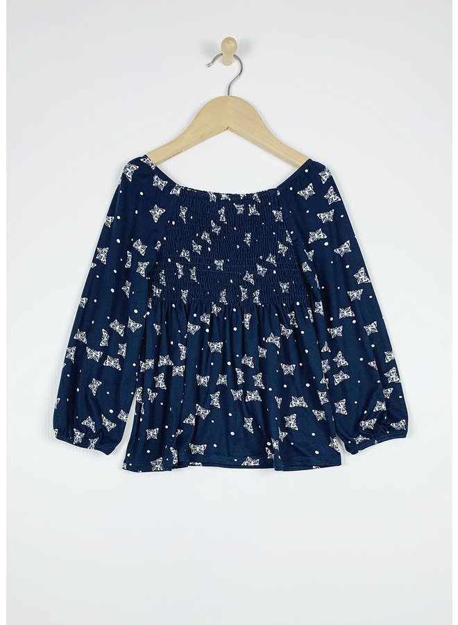 Butterfly Smocked Top