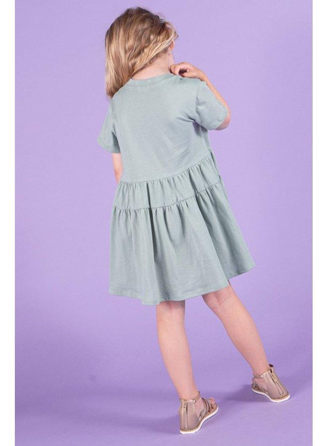 Tiered Shirt Dress