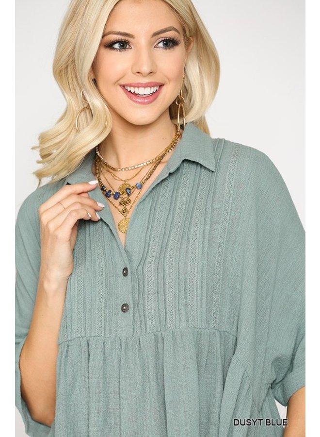 Collared Babydoll Shirt