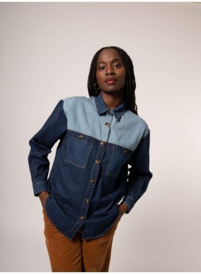 Camargue Colorblock Denim Jacket