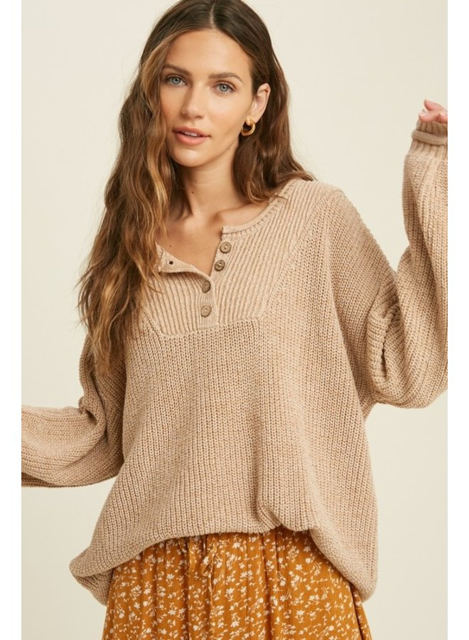 Chunky Henley Sweater