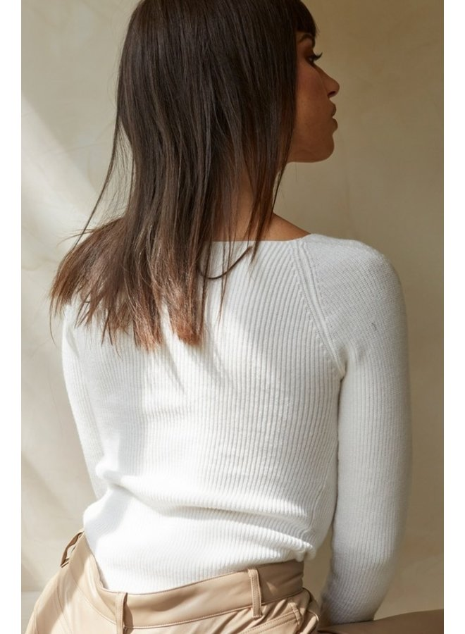 Sweetheart Ribbed Knit Top