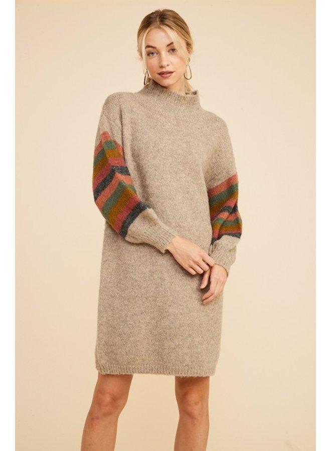 Multi-Stripe Sweater Dress