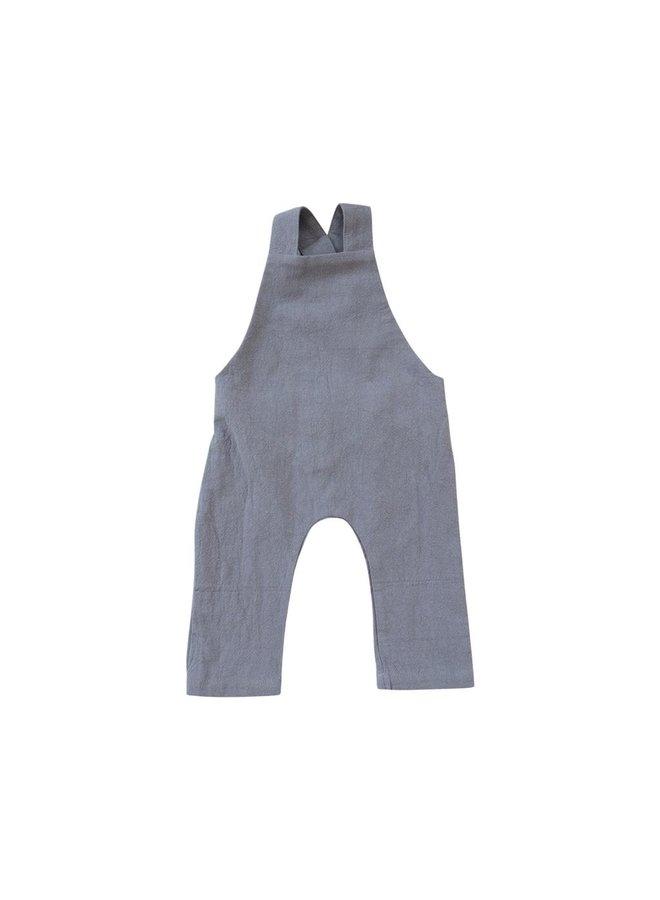 Gray Linen Overalls