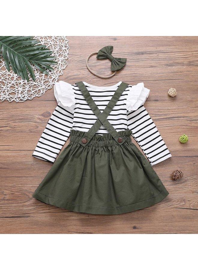3-Piece Suspender Dress Set