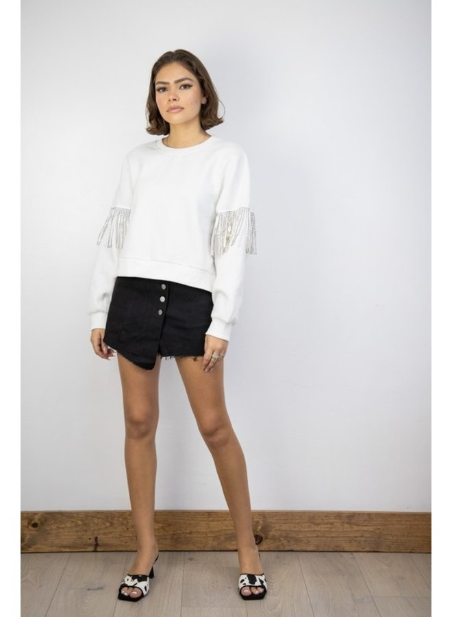 Embellished Fringe Sweatshirt