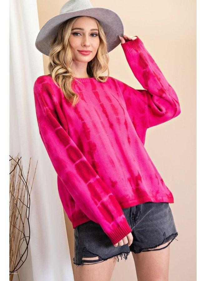 Tie-Dye Knit Sweater