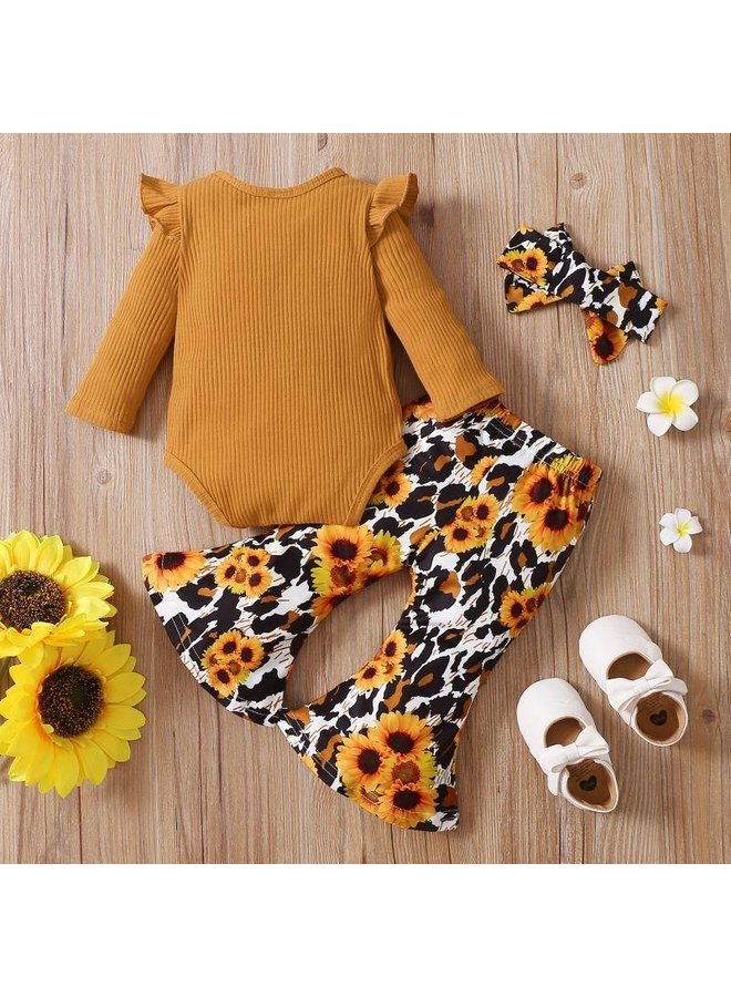 2-Piece Sunflower Pant Set