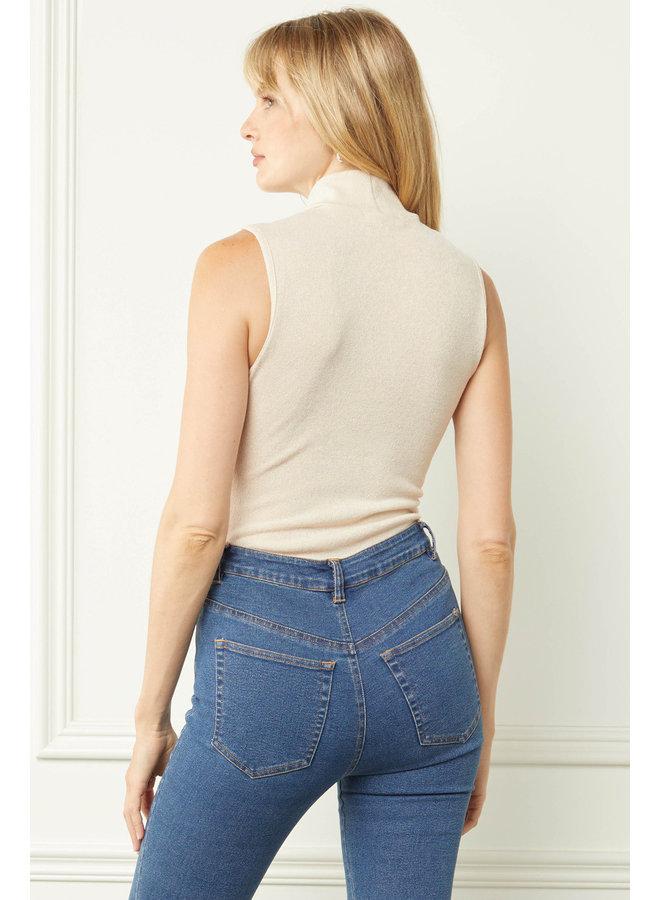 Turtleneck Sleeveless Bodysuit