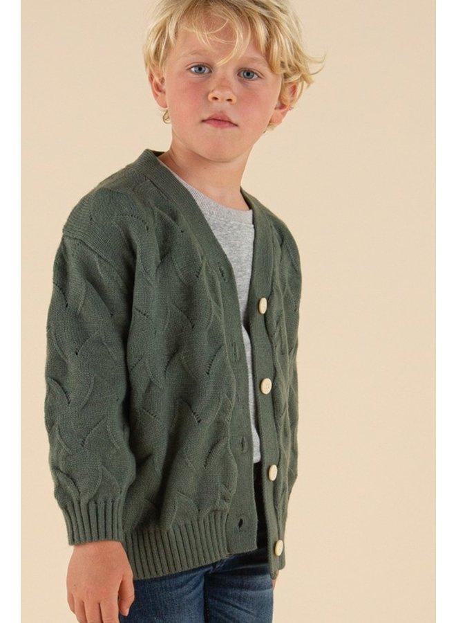 Twisted Knit Cardigan