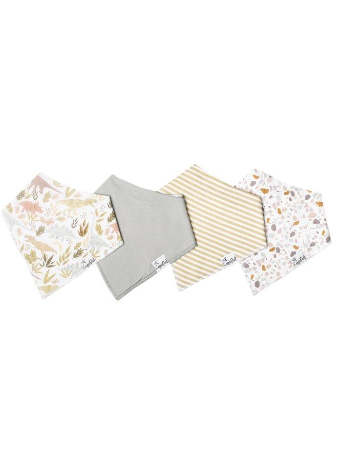 4-Pack Baby Bandana Bib Set