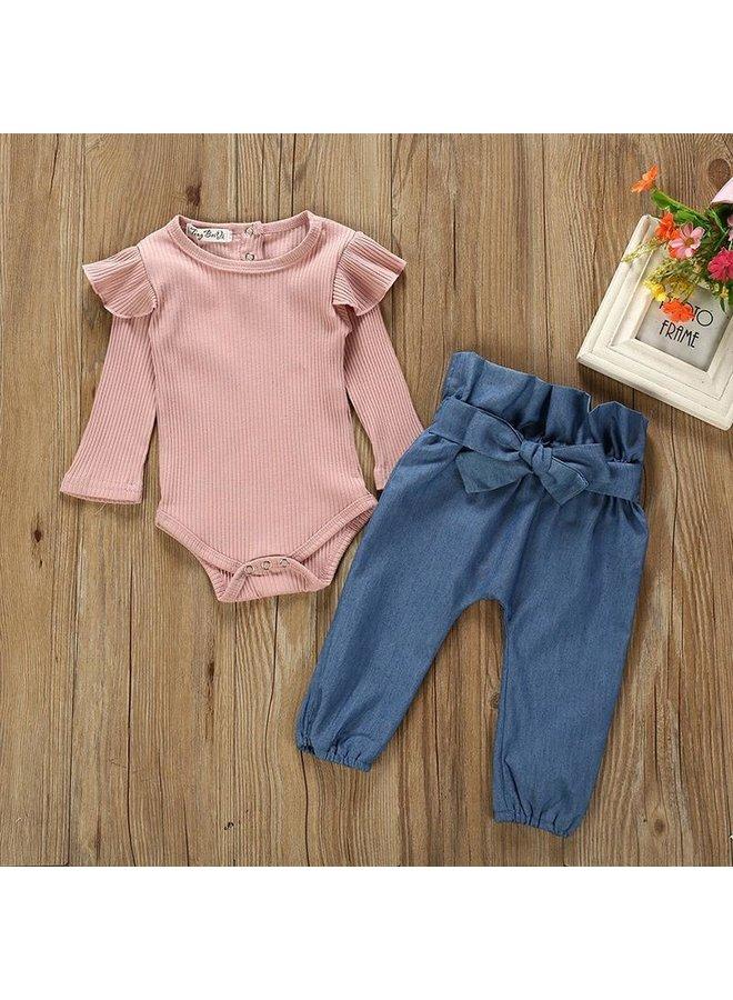 2-Piece Bodysuit & Pant Set