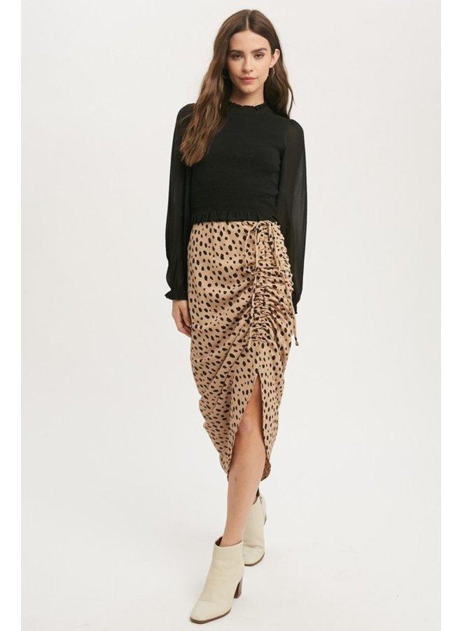 Leopard Asymmetrical Skirt