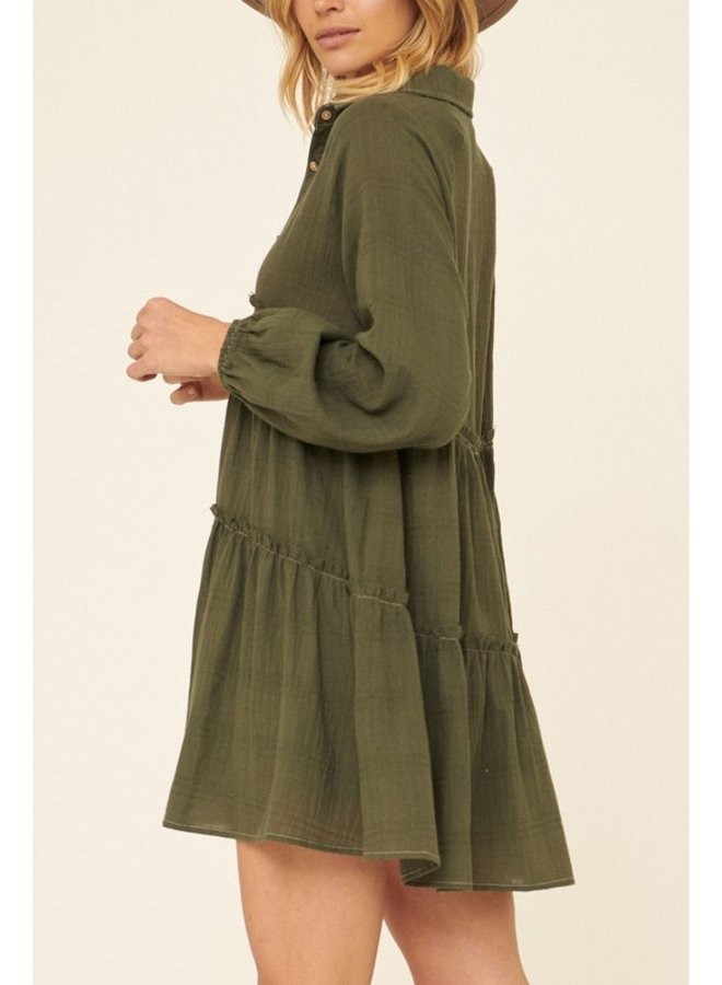 Henley Collared Dress