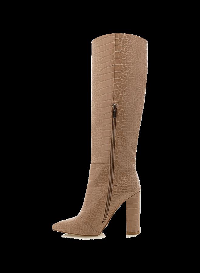 Milla Crocodile Knee Boot