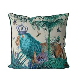 DP FF Lion Blue In Tropical Jungle 24x24
