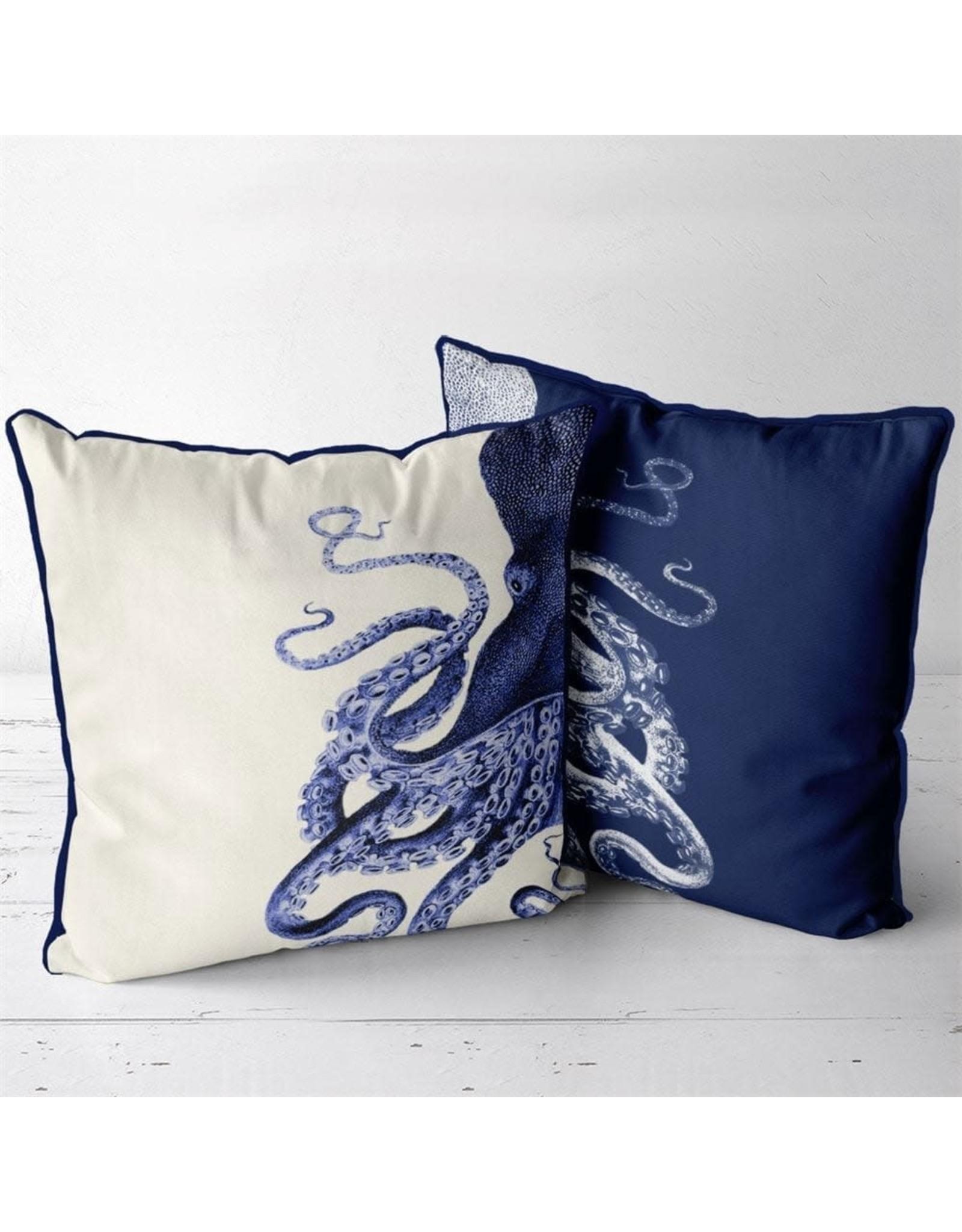 DP FF Octopus Navy Blue Cream 24x24