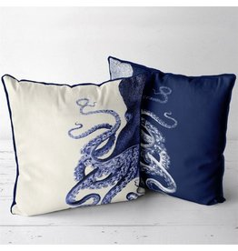 DP FF Octopus Navy Blue Cream 24x24