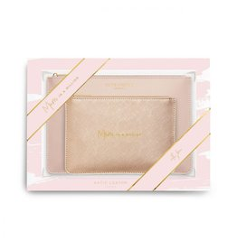 Pouch Gift Set Mom In A Million Metallic Pink