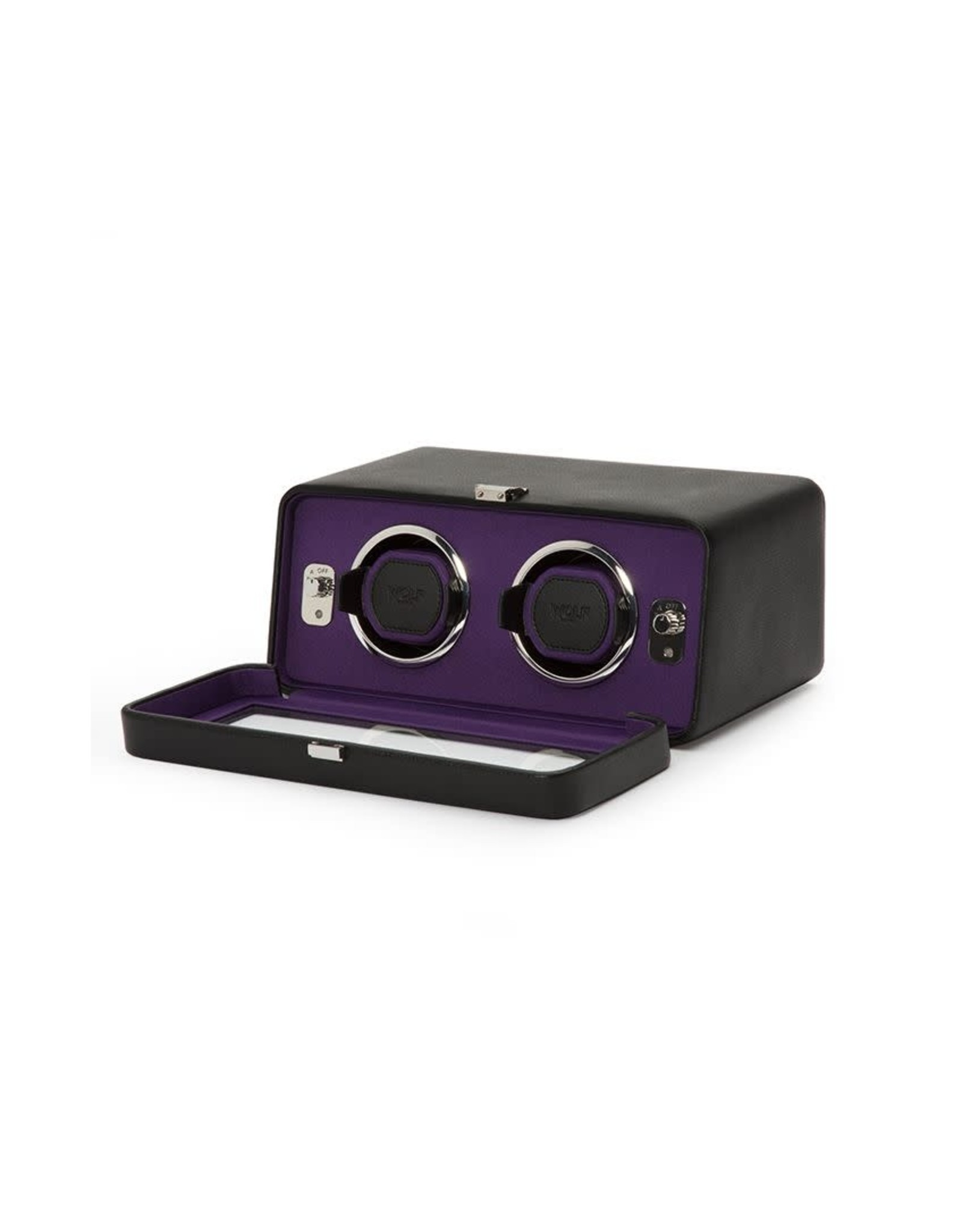 Watch Winder Windsor Double Black Purple