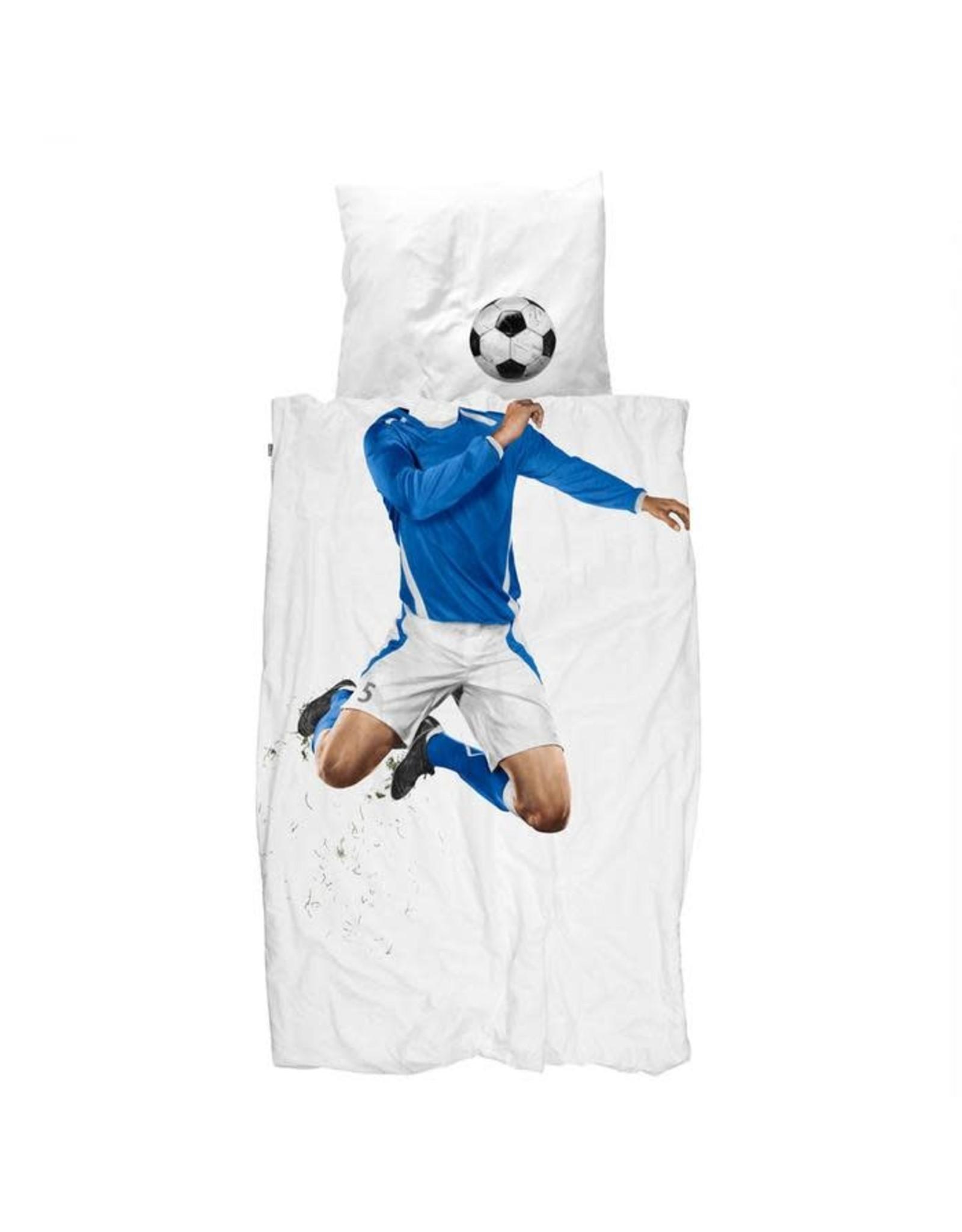 Duvet Cover Set, Soccer, Blue, Twin