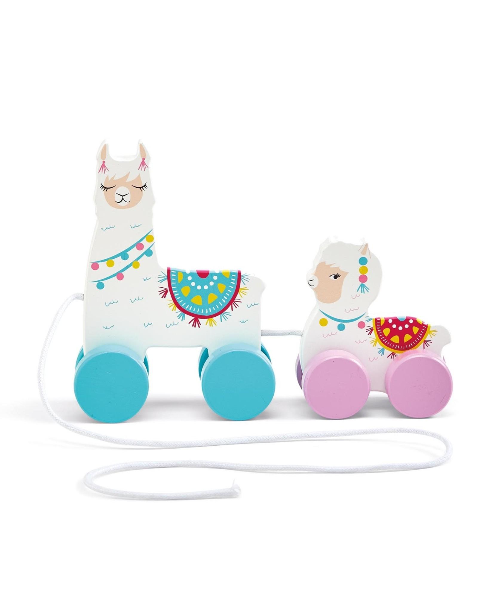 Llama Pull Toy Mama & Baby