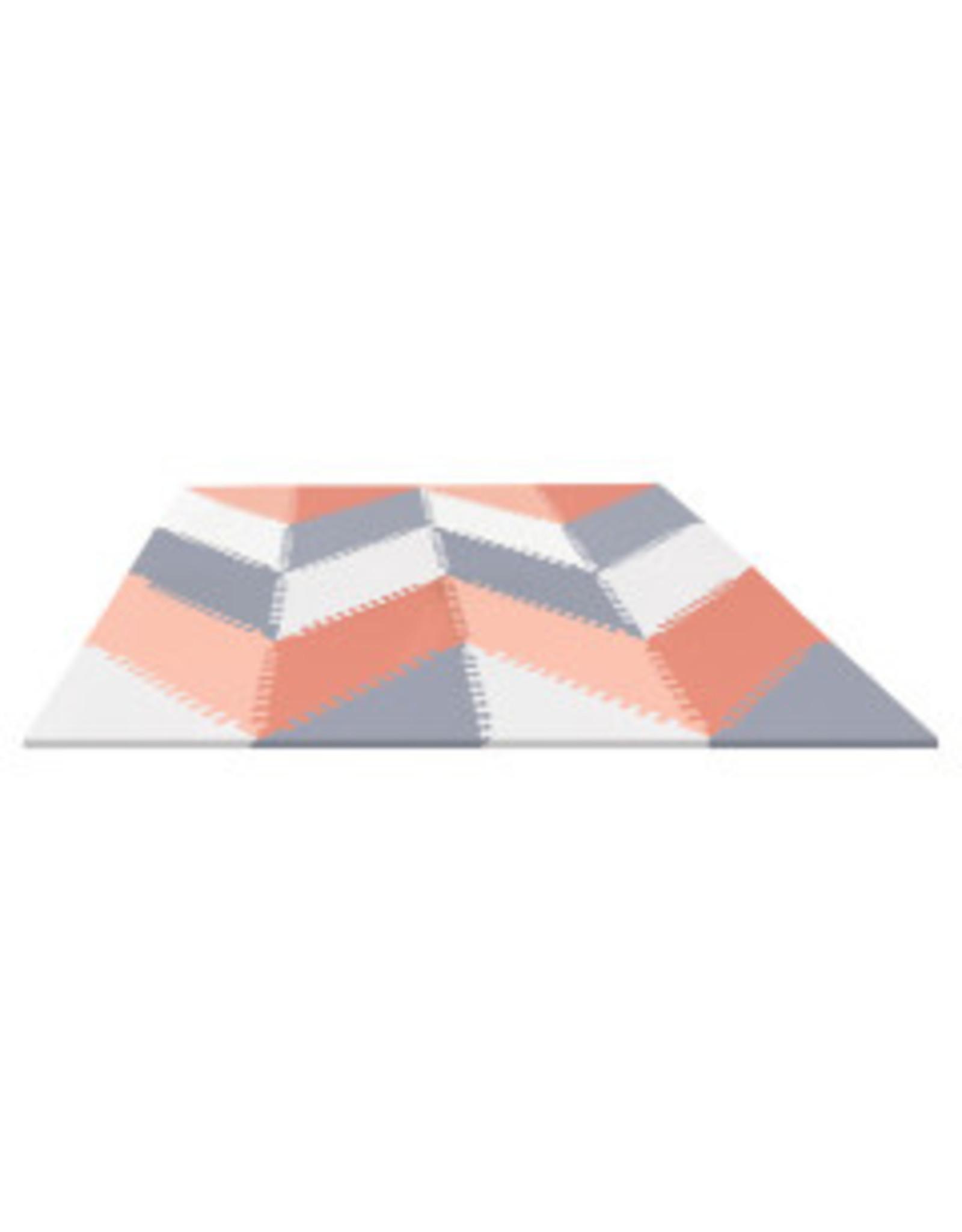 Play Spot Floor Tiles Grey/Peach REG TA
