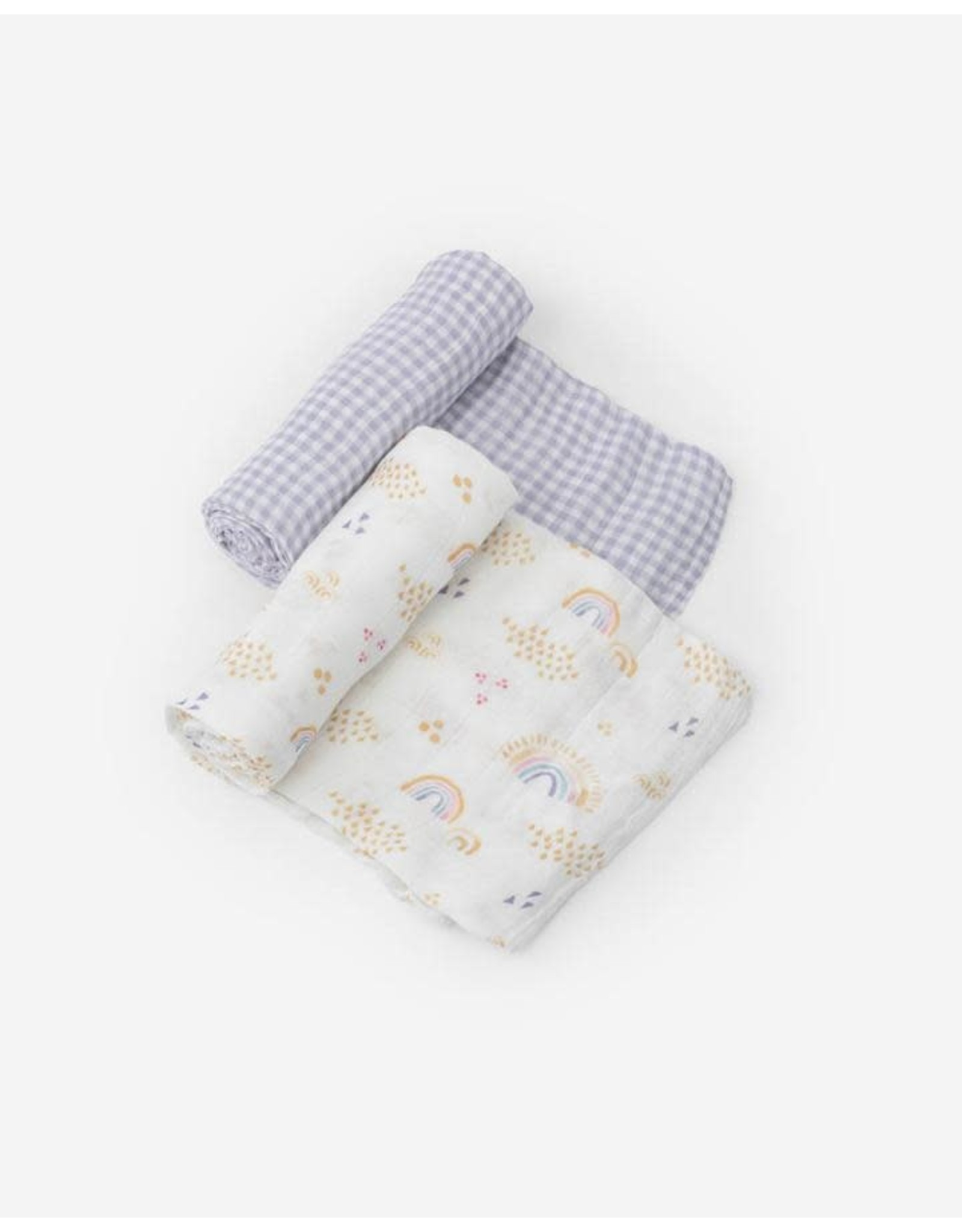 Swaddle  2 Pack Rainbow Gingham MW REG SOLD