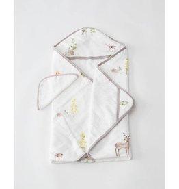 Hooded Towel Set Deer  SOLD