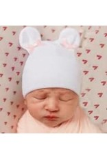 Baby Hat - Pink Bow Bear Ears MW REG