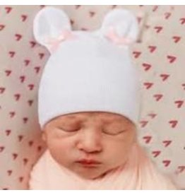 Baby Hat - Pink Bow Bear Ears MW REG