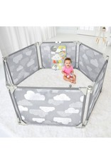 Playview Expandable Enclosure Grey Clouds