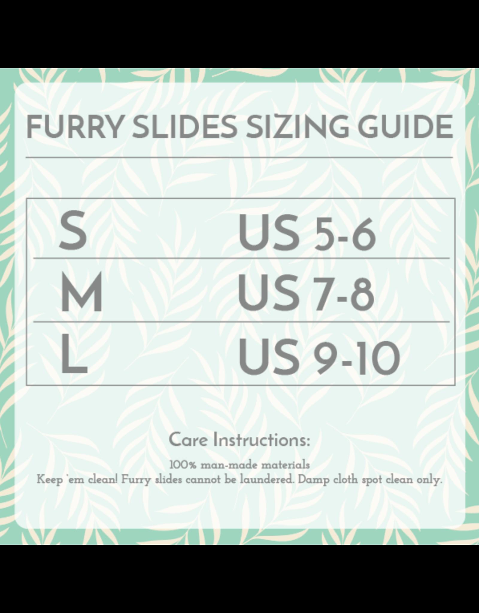 Slippers Furry Slides