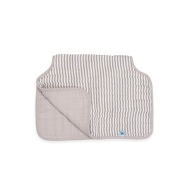 Burp Cloth Muslin Grey Stripe MP Reg