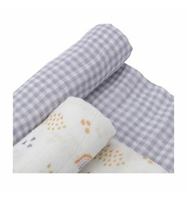 Swaddle 2 Pack Rainbow Gingham MP Reg