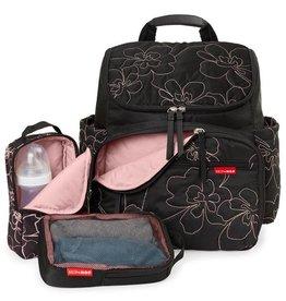 Diaper Bag Backpack Black Floral MP Reg