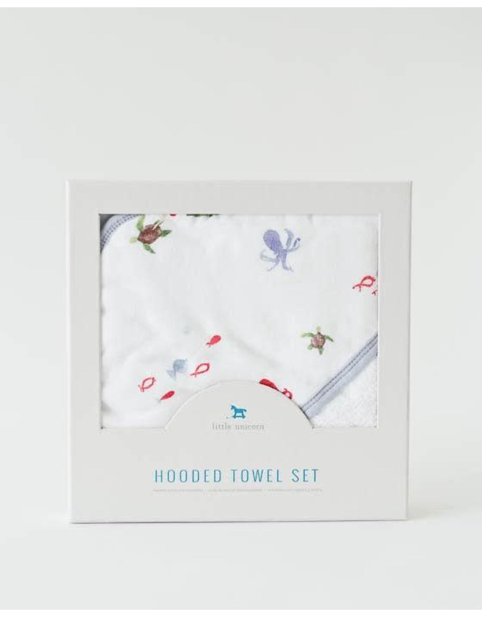 Hooded Towel Set Mermaid