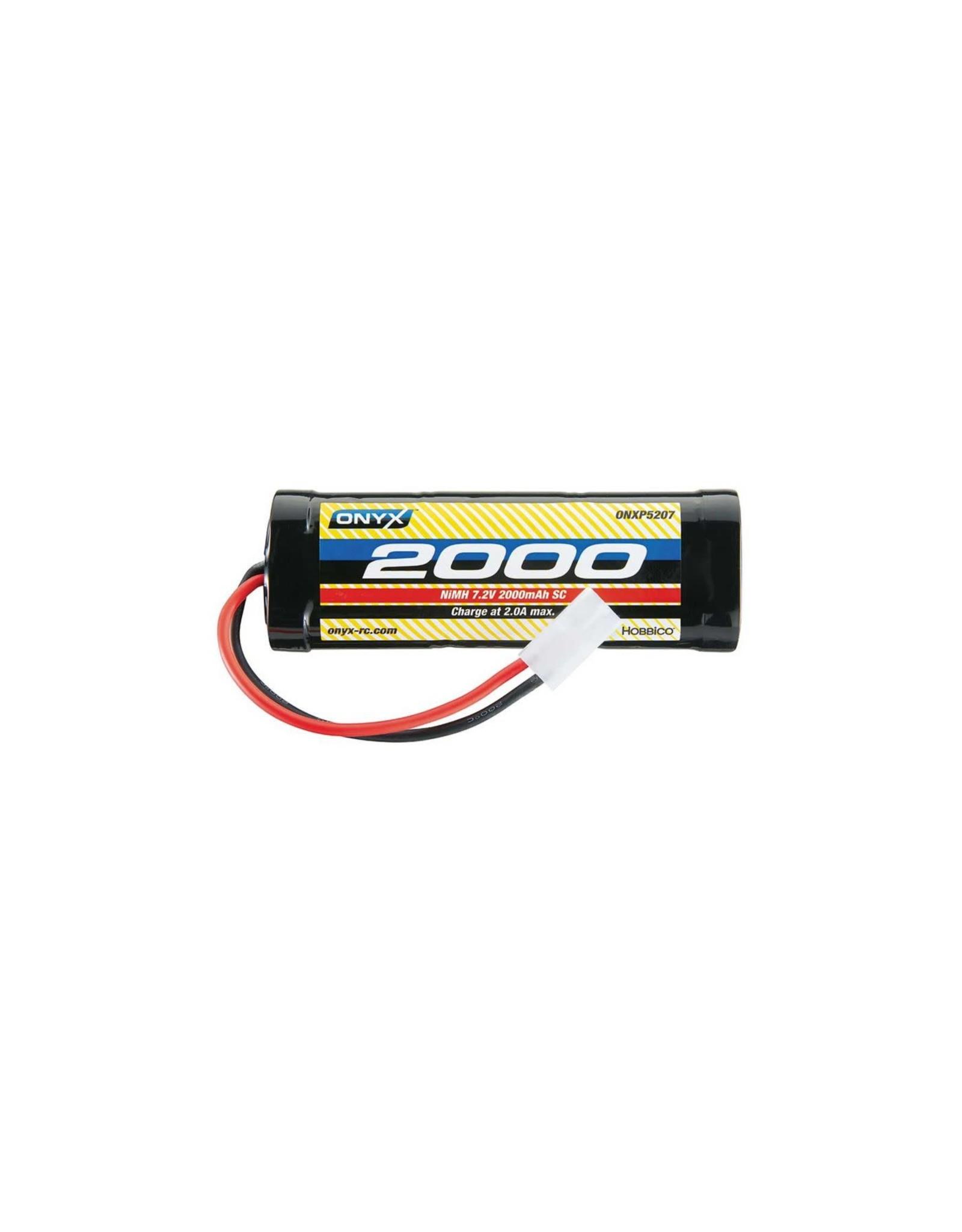 ONYX NiMH 7.2V 2000mAh Sub-C Stick TAM Plug