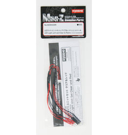 Kyosho Mini z Led Light Clear & red for ics connector