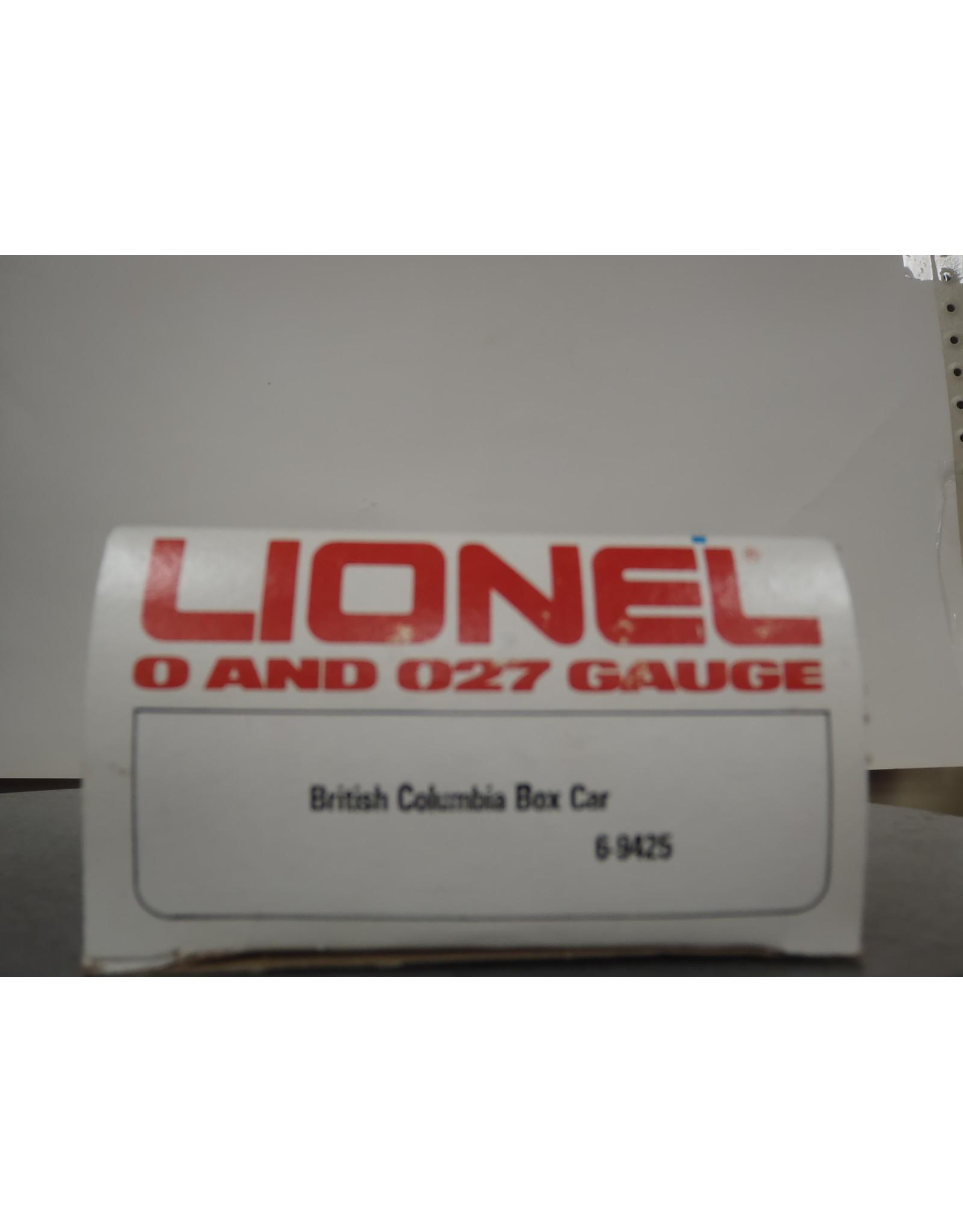 Lionel Boxcar Brithish Columbia 9425