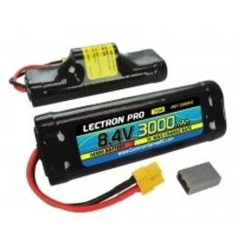 Common Sense RC Lectron Pro Nimh 8.4 (7Cell) 3000mah Hump with XT60 connector, CSRC Adapter for XT60 batteries to popular RC Vehicles (18A)