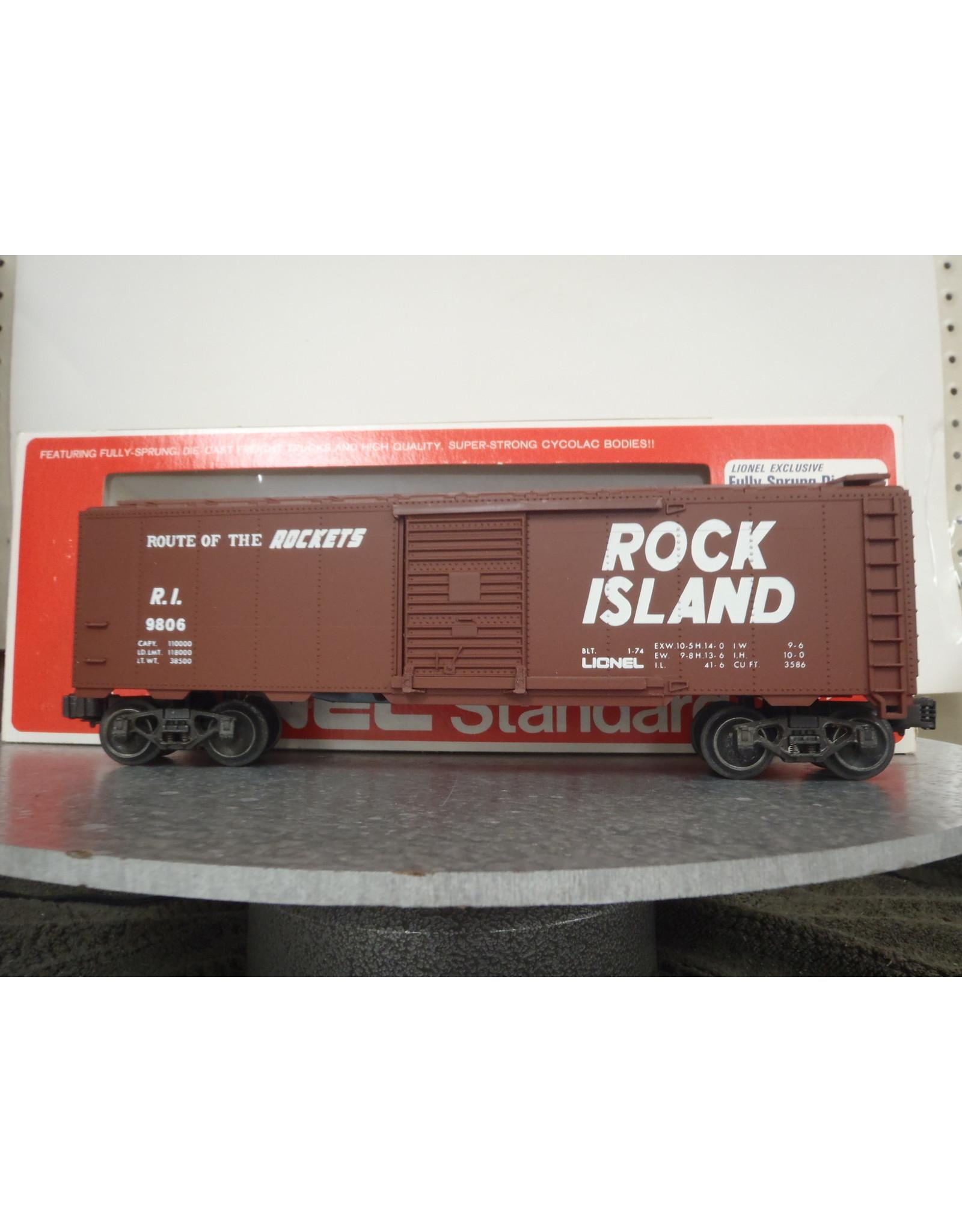 Lionel Boxcar  Rock Island 9806
