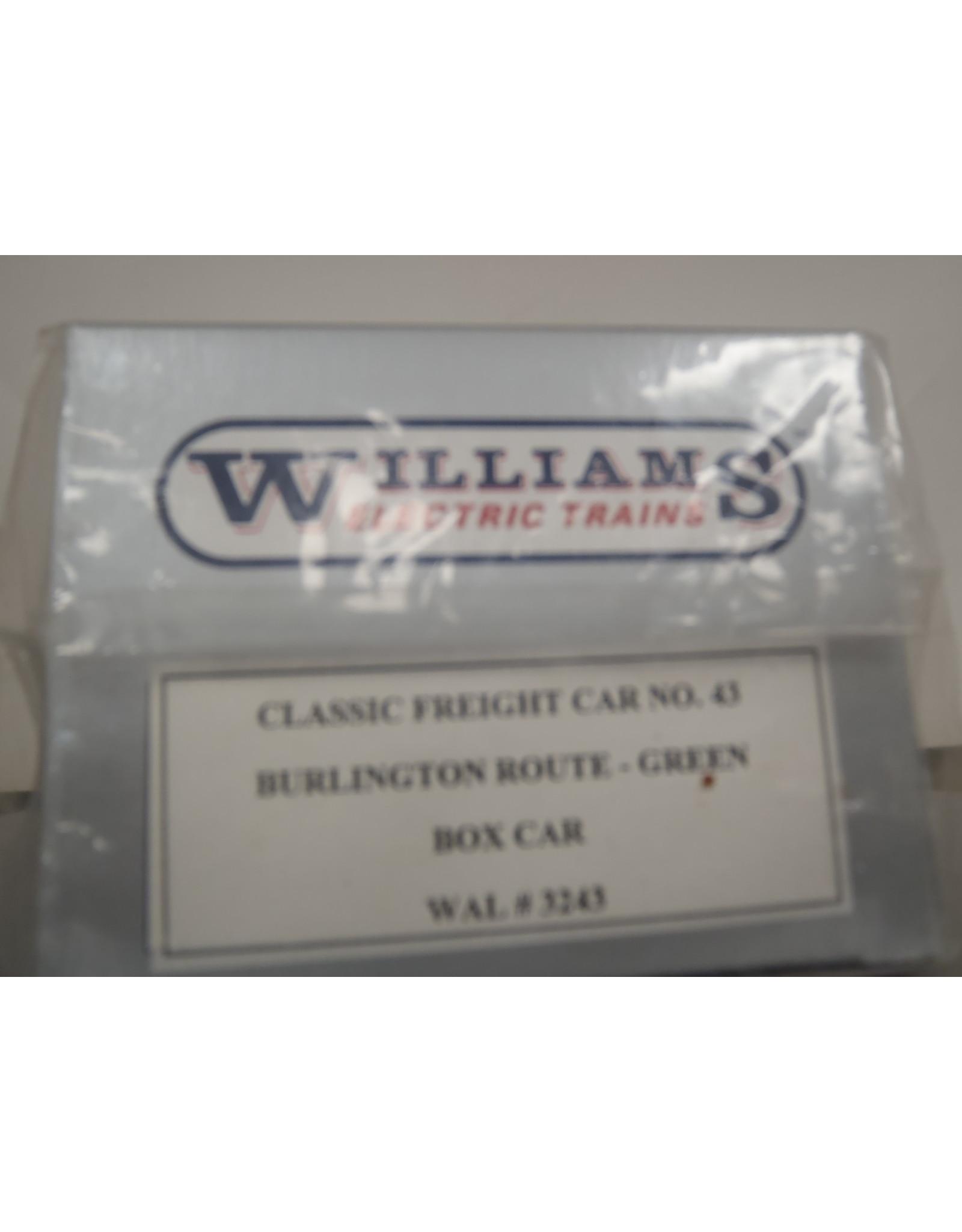 Williams Boxcar Burlington Route Green 70034