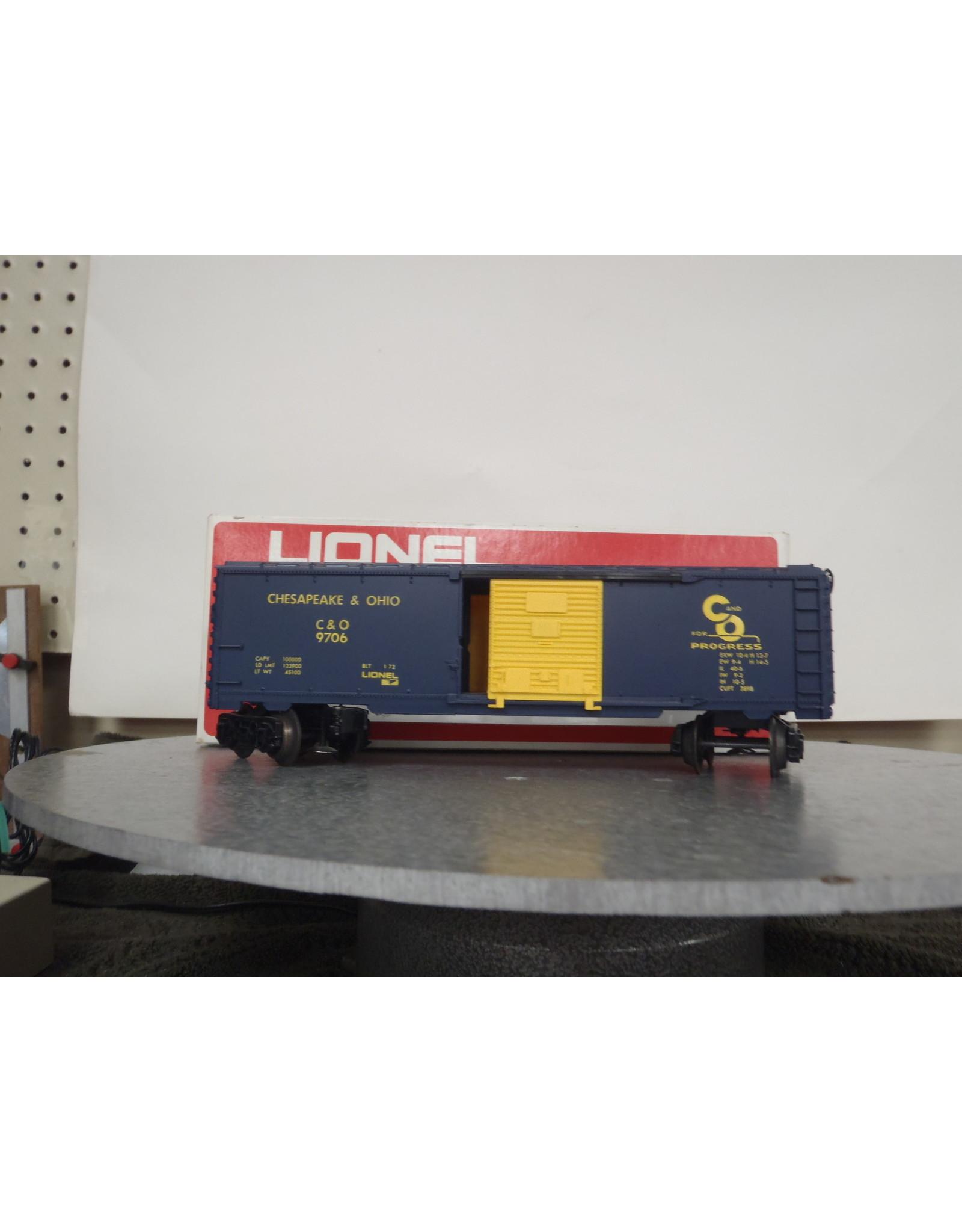 Lionel Boxcar C&O 9706