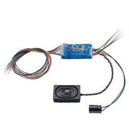 Digitrax SDH166D Series 6 Sound & Control Decoder -- 6 FX3 Functions, 8-Bit Sound, Wired