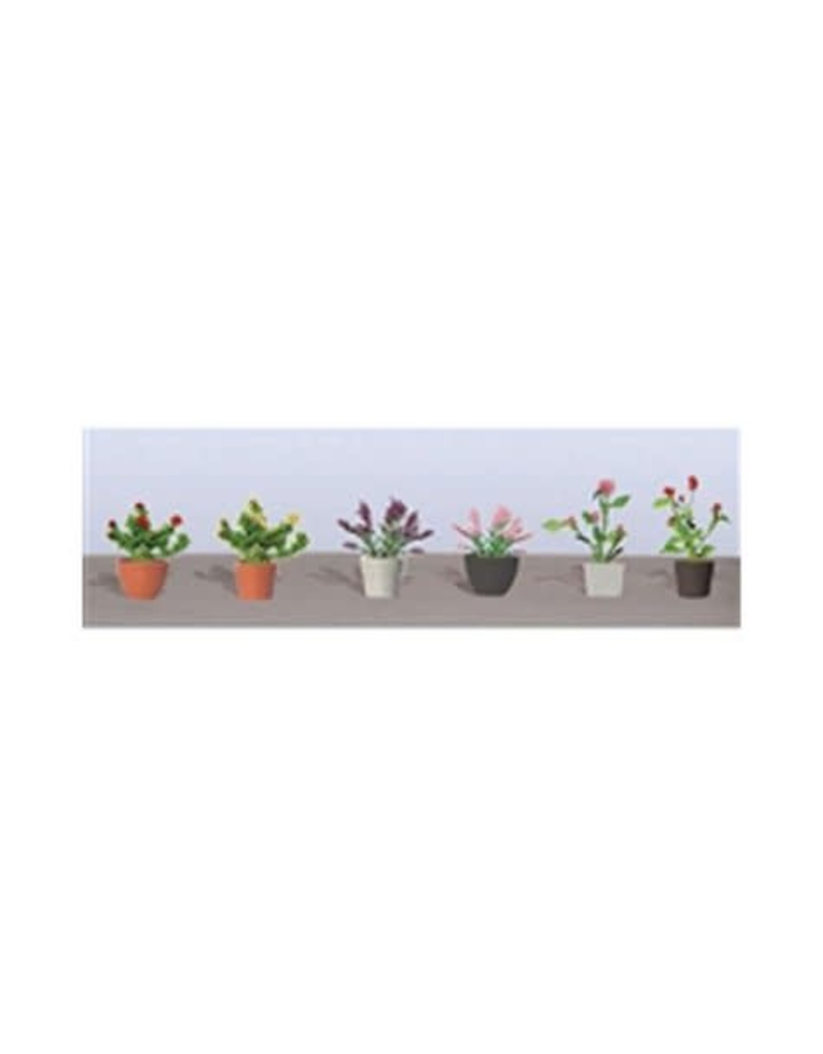 JTT Assorted Potted Flower Plants 6/pk 95566